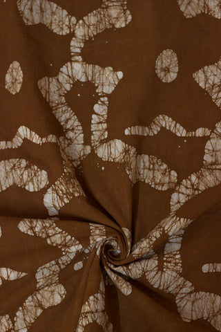 Bloom in Brown - Batik work Organic Handwoven Cotton