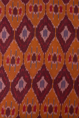 Orange Ikat Fabric 1.2m