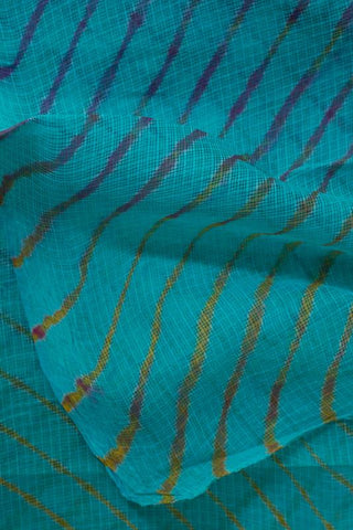 Sky Blue with Multi Colour Lines Leheriya Saree