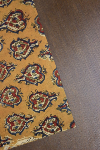 Fenugreek Block Printed Kalamkari Fabric