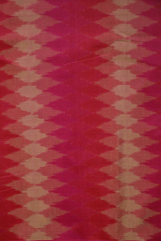 Shades of Pink Ikat Silk Cotton Fabric