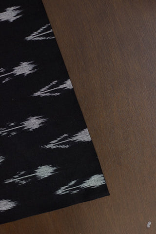 Arrows in Black - Handwoven Ikat Fabric