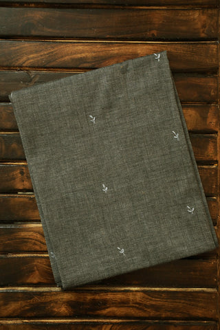 Grey Handwoven with fine Embroidery