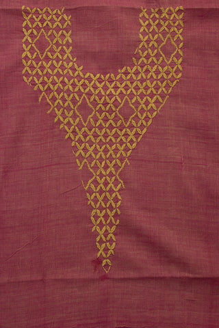 Lavendar Handworked Cotton Blouse