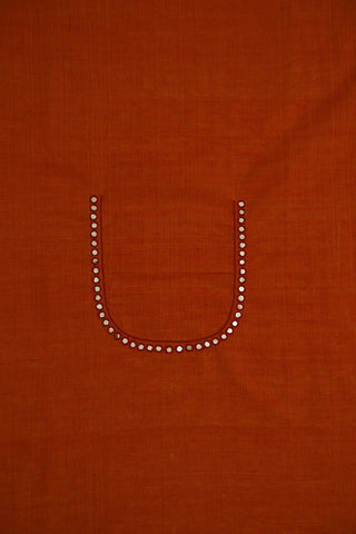 Orange Mangalagiri with mirror work (1.4 m)