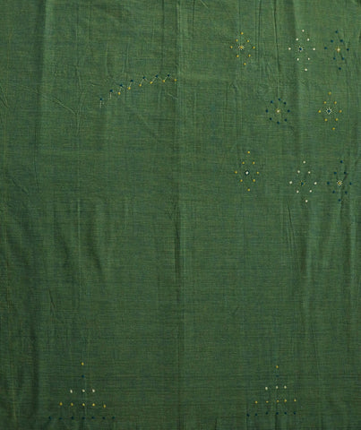 Handwoven Fabric with subtle Lambani Embroidery