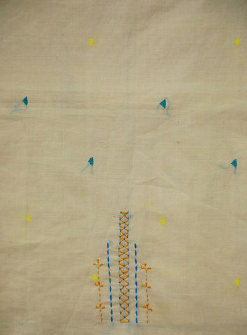 Offwhite Butta Fabric with Lambani emboidery