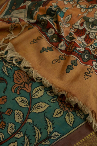 Pen Kalamkari Cotton Dupatta