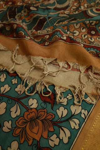 Hand Painted Kalamkari Cotton Dupatta
