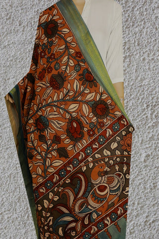 Painted Pen Kalamkari Cotton Dupatta