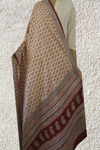 Leaf Bagh Printed Cotton Dupatta