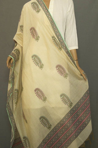 Sky Blue with Pink Chanderi Dupatta