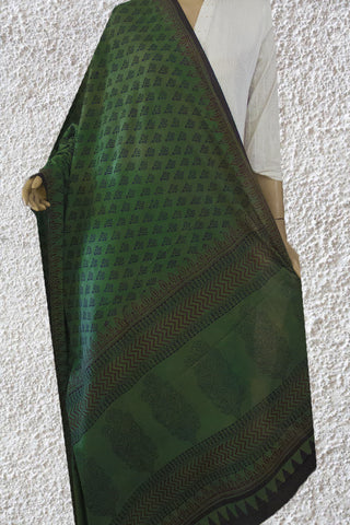 Green Bagh Printed Cotton Dupatta
