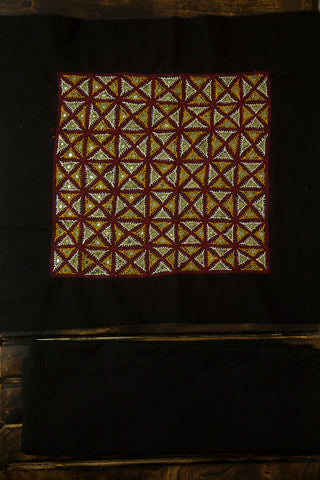 Maroon Mangalagiri Cotton with Kutch Embroidery