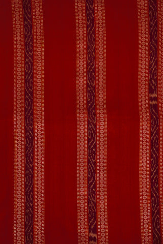 Borders in Red Orissa Ikat Cotton Fabric