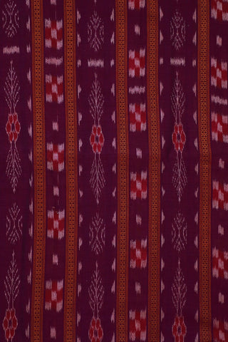 Pinkish Purple Orissa Ikat Cotton Fabric