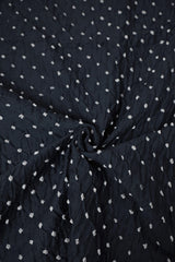 Dots in Navy Blue Bandhani Cotton Fabric