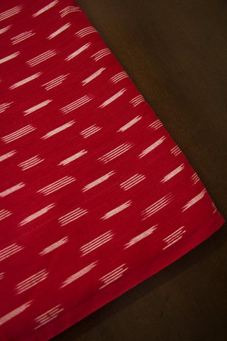 Red Ikat Cotton Fabric