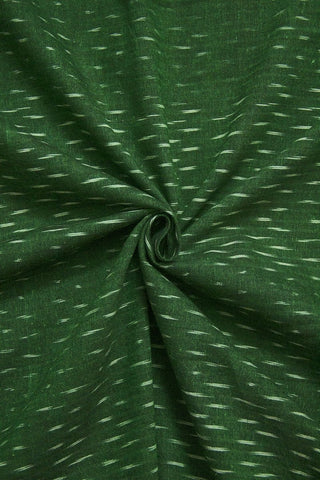 Subdued Green Ikat Cotton Fabric