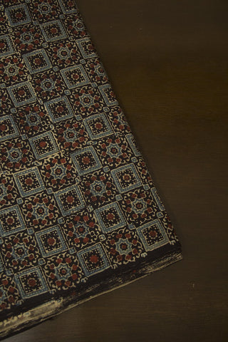Intricate Boxes - Block Printed Ajrak fabric