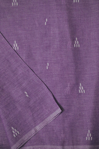 Double shade Lavender Bengal Jamdani Cotton Fabric