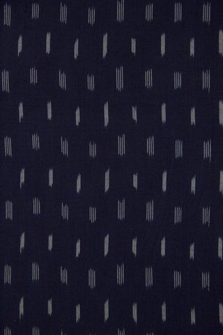 Deep Blue Ikat Cotton Fabric