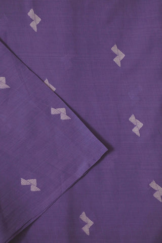 Lavender Blue Bengal Jamdani Cotton Fabric