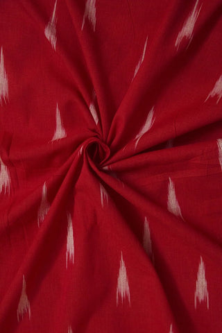 Subdued Red Arrow Ikat Cotton Fabric