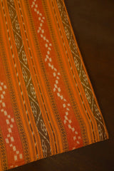 Yellow Orange Orissa Ikat Cotton Fabric