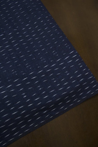 Dashes on Navy Blue Ikat Cotton Fabric