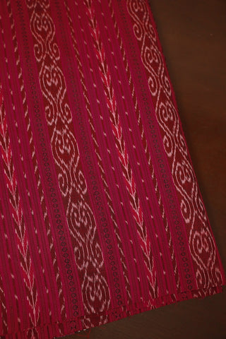 Dark Pink Orissa Ikat Cotton Fabric