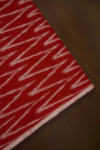 Red Zig Zag Ikat Cotton Fabric