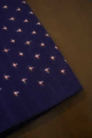 Blue Handwoven Double Ikat Cotton Fabric