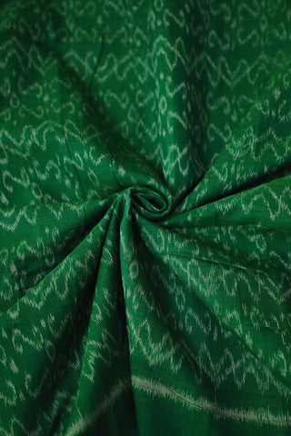 Green Orissa Ikat Cotton Fabric