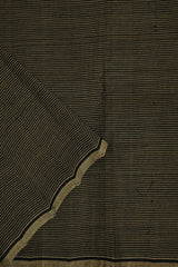 Black with Grey Stripes Mangalagiri Cotton Fabric