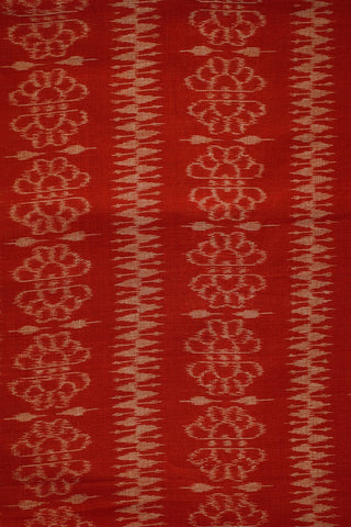 Double Shaded Pinkish Maroon Orissa Ikat Cotton Fabric