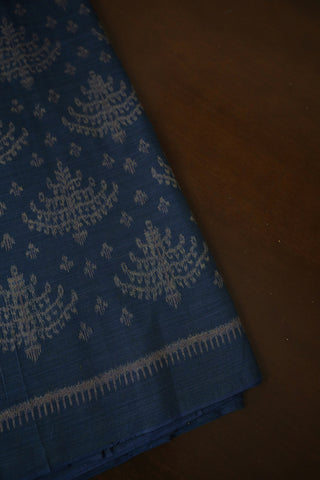 Subdued Indigo Orissa Ikat Cotton Fabric