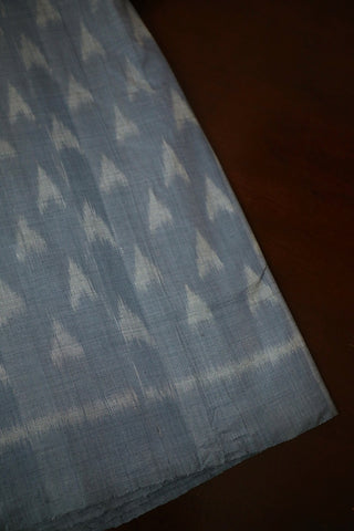 Bluish Grey Orissa Ikat Cotton Fabric