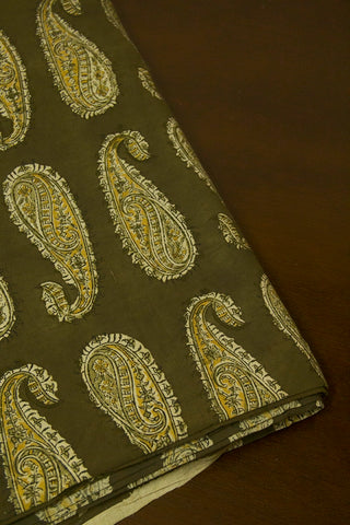 Big Paisley Block Printed Kalamkari Fabric