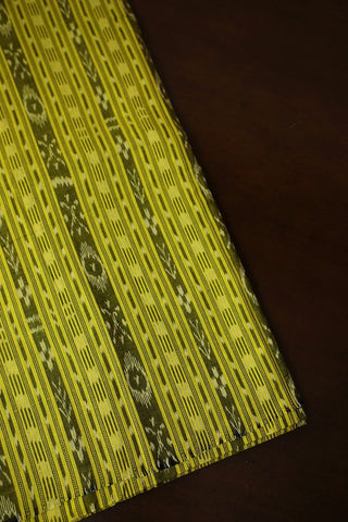 Lime Green Orissa Ikat Cotton Fabric