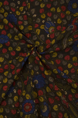 Floral Painted Kalamkari Cotton Fabric - 0.5m