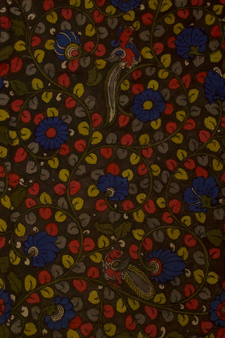 Floral Painted Kalamkari Cotton Fabric