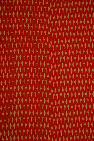 Red Handwoven Ikat Mercerized Cotton Fabric
