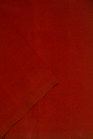 Brick Red Handwoven Mangalagiri Cotton Fabric