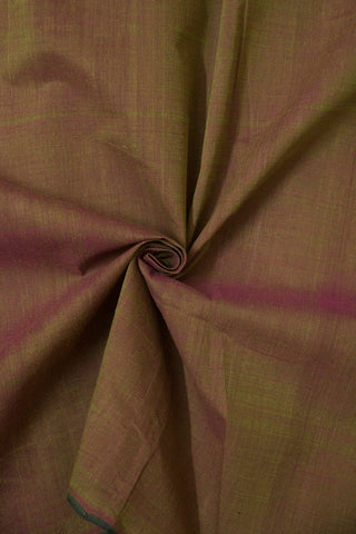 Double Shaded Pinkish Green Handwoven Mangalagiri Cotton Fabric