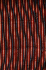 Maroon and Black Lines Ajrak Modal Silk Fabric