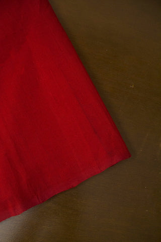 Maroon Handwoven Mangalagiri Cotton Fabric