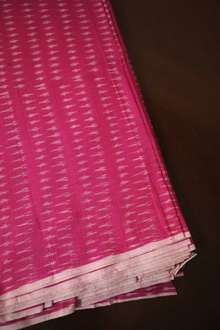 Pink Mercerized Ikat Cotton Fabric