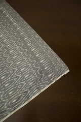 Cement Grey with Diamond Shapes Mercerized Ikat Fabric
