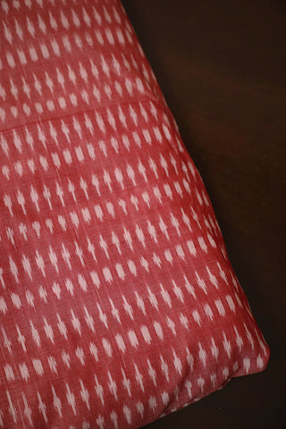 Double Shaded Red Mercerized Ikat Cotton Fabric